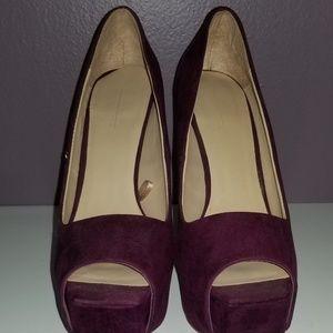Zara Shoes - ZARA RARE Bordeaux Platform Heels